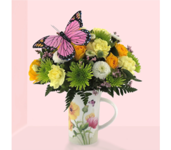 Butterfly Meadows Mug in Southfield MI, Thrifty Florist