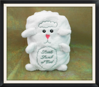 Little Lamb of God Fleece Blanket in Tyler TX, The Flower Box