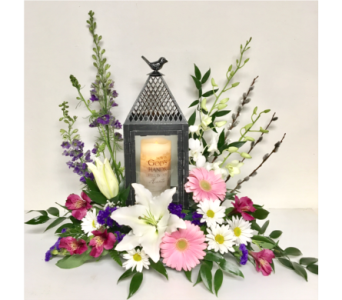Flight of Fancy Lantern with Memorial Candle in Wyoming MI, Wyoming Stuyvesant Floral