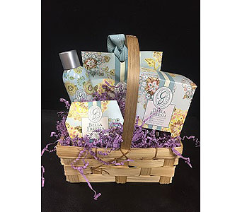Bella Freesia Gift Basket in Greenville SC, Expressions Unlimited