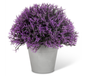 Artificial Lavender Mound in Pot in Ajax ON, Reed's Florist Ltd