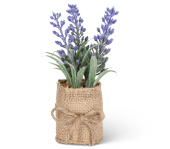 Artificial Lavender in Burlap in Ajax ON, Reed's Florist Ltd