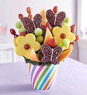 Fresh Picked Sweets for Mom in Mount Morris MI, June's Floral Company & Fruit Bouquets