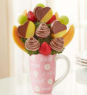 Fruit Filled Mug for Mom in Mount Morris MI, June's Floral Company & Fruit Bouquets
