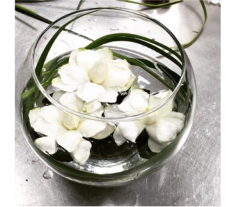 Floating Gardenia Bowl in Bellevue WA, CITY FLOWERS, INC.