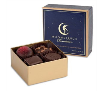 MOONSTRUCK CHOCOLATE 4 piece dark chocolate in Bellevue WA, CITY FLOWERS, INC.