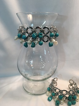Designers Choice Vase Arrangement w/ Bracelet in Hudson NH, Anne's Florals & Gifts