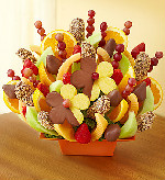 Abundant Fruit & Chocolate Tray in Round Rock TX, Heart & Home Flowers