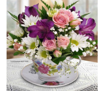 Mother's Teacup Bouquet in Indianapolis IN, George Thomas Florist