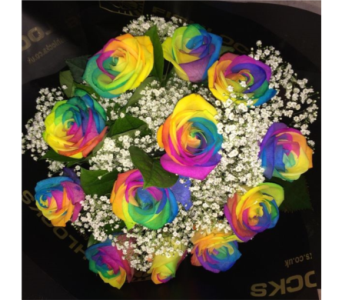 Rainbow Roses in Oliver BC, Flower Fantasy & Gifts