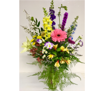 Variety is the Spice of Life Vase Arrangement in Wyoming MI, Wyoming Stuyvesant Floral