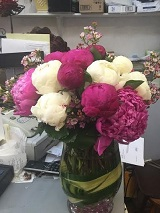 Custom Peonies Arrangement in West Los Angeles CA, Sharon Flower Design