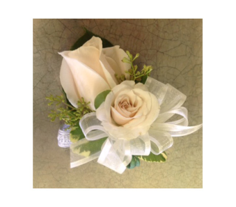 2 cream rose wristlet  in Markham ON, Metro Florist Inc.