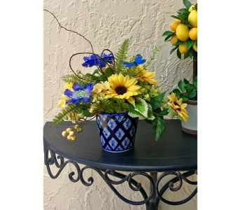 Sunflower Delight Silk Arrangement in The Villages FL, The Villages Florist Inc.
