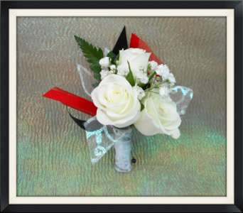 White Rose Boutonniere in Tyler TX, The Flower Box