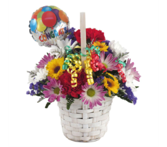 Congratulations Basket in Southfield MI, Thrifty Florist