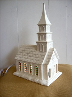 LIGHTED CERAMIC CHURCH in Nashville TN, Emma's Flowers & Gifts, Inc.