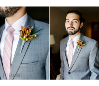 Wedding Boutonniere in Amelia OH, Amelia Florist Wine & Gift Shop