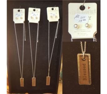 Blessed Necklace & Earrings Set in Neenah WI, Sterling Gardens