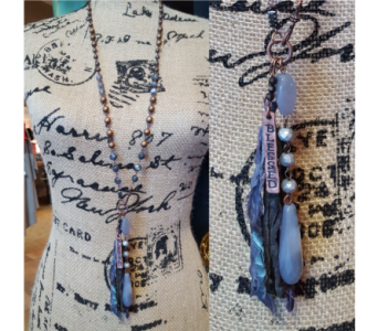 Blessed Necklace - Grey in Neenah WI, Sterling Gardens