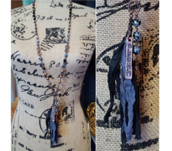Blessed Necklace - Blue in Neenah WI, Sterling Gardens