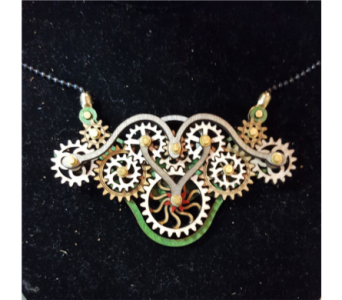 Gear Garb-Kinetic Jewelry that Moves! - Green in Neenah WI, Sterling Gardens