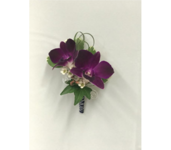 Purple Dendrobium Orchid Boutonni�re in Somerset NJ, Flower Station