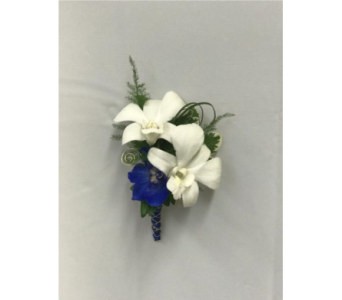 White Dendrobium Orchid Boutonni�re in Somerset NJ, Flower Station
