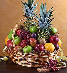 Deluxe All Fruit Basket in Round Rock TX, Heart & Home Flowers