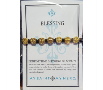 Benedictine Blessing Bracelet - Gold in Neenah WI, Sterling Gardens