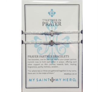 Prayer Partner Bracelet - Silver/White in Neenah WI, Sterling Gardens
