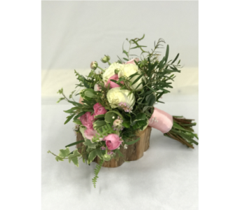 White & Pink Garden Style Bridal Bouquet in Somerset NJ, Flower Station