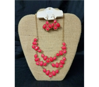 Coral necklace set in Greenfield IN, Penny's Florist Shop, Inc.