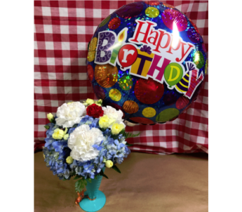Birthday Treat with Balloon in Edmonds WA, Dusty's Floral