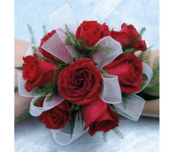red tea rose wristlet in Pottstown PA, Pottstown Florist