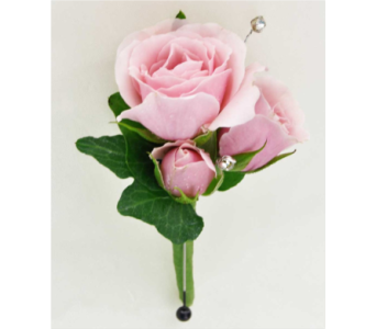 pink tea rose bouttoniere in Pottstown PA, Pottstown Florist