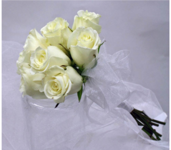 white rose handheld in Pottstown PA, Pottstown Florist