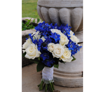 blue and white handheld in Pottstown PA, Pottstown Florist