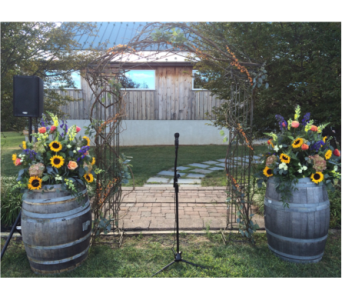 Rustic Arch in Somerset NJ, Flower Station