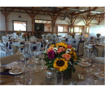Rustic Sunflower Centerpieces in Somerset NJ, Flower Station