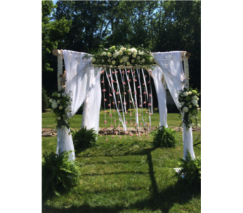 White Birch Arch in Somerset NJ, Flower Station