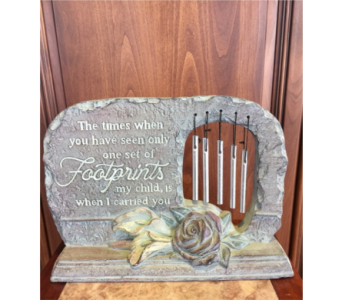 Footprints Chime Stone in Sterling Heights MI, Sam's Florist