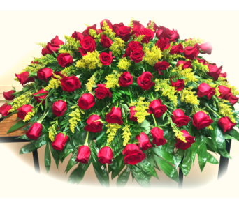 Rose Garden Casket Spray in Lake Charles LA, A Daisy A Day Flowers & Gifts, Inc.