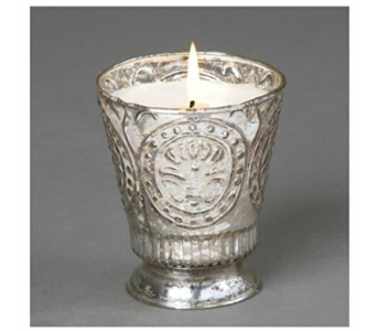 Himalayan Candles Fleur de Lys Tumbler in Mitchell SD, Nepstads Flowers And Gifts