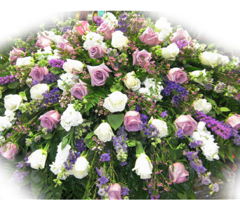 Lavender Love Casket Spray in Lake Charles LA, A Daisy A Day Flowers & Gifts, Inc.