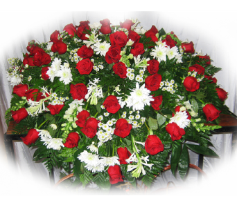 Eternal Slumber Casket Spray in Lake Charles LA, A Daisy A Day Flowers & Gifts, Inc.