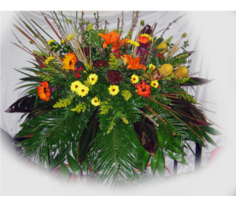 Tropical Dream Casket Spray in Lake Charles LA, A Daisy A Day Flowers & Gifts, Inc.