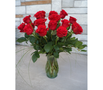 Classic Two Dozen Roses in Muskegon MI, Wasserman's Flower Shop