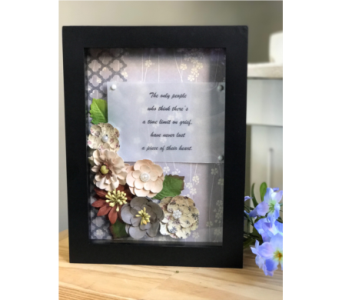Grief Shadowbox in Royal Oak MI, Irish Rose Flower Shop