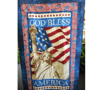 God Bless America Wall Hanging in Johnstown PA, Schrader's Florist & Greenhouse, Inc